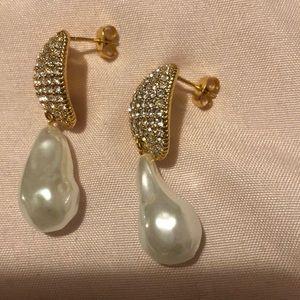 Cèline faux baroque pearl earrings